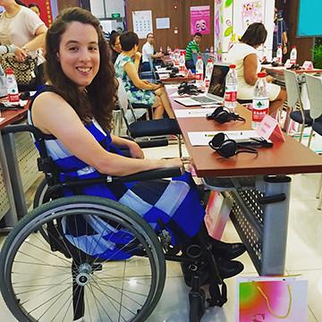 Disability rights activist Anastasia Somoza will speak on self-determination at Wilmington University's New Castle campus on April 10.