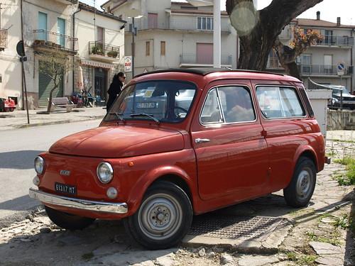 Fiat 500 Giardiniera in Accettura, Basilicata, South-Italy.