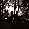 Silence #silhouette #shadow #trees:deciduous_tree:#friends #friendship #peace #silence