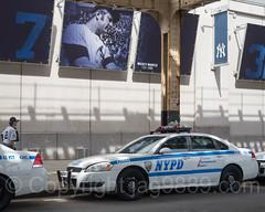 NYPD Precinct 44 Police Patrol Car, 2017 Yankees Home Opener at Yankee Stadium, The Bronx, New York City