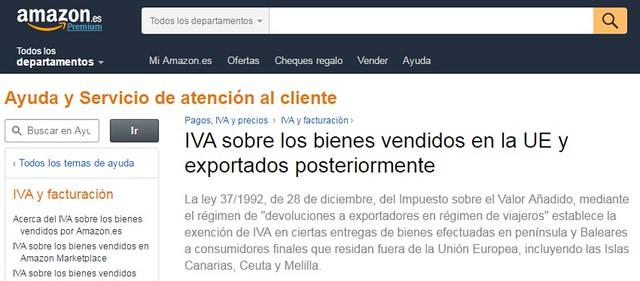 Como pedir la Devolucion del IVA Amazon España
