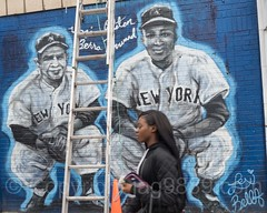 Yogi Berra and Elston Howard Mural near Yankee Stadium, The Bronx, New York City