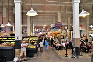Looking Out To The Grand Central Market