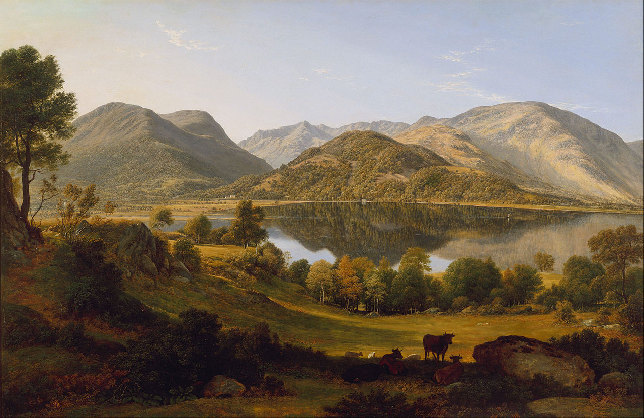 Ullswater, early morning by John Glover, 1824