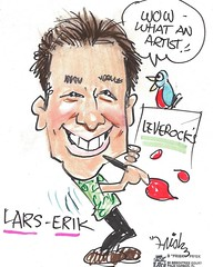 A #caricature sketch of me @larserarts by Bob.