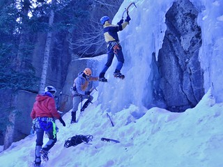 Warming up to Ice Climb in RMNP