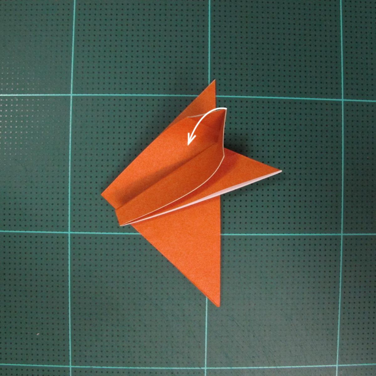 วิธีพับกระดาษเป็นสุนัขจิ้งจิกแบบง่าย (Simple Origami Fox) 005
