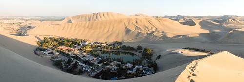 travel sunset reflection peru water landscape sand desert dunes tracks hike oasis fujifilm footsteps exploration ica huacachina fujinon23mmf2 x100s