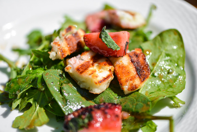 Grilled Strawberry and Halloumi Salad