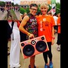 @SpandyAndy rocking his custom #BoomCase during a walk for #MS in #Melbourne #Australia - #TightandBright #BoomBox