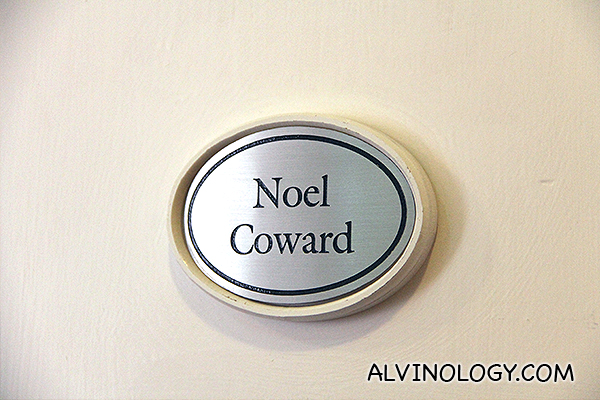 There's a room named after Sir Noel Coward in his honour