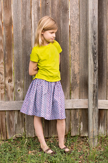 oliver + s school bus t-shirt with fiesta skirt