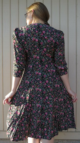 90s Floral Dress - Before