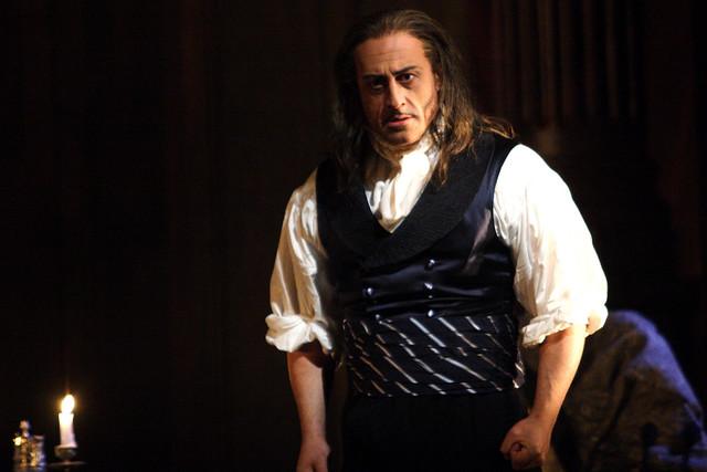 Marco Vratogna as Baron Scarpia in Tosca © ROH / Catherine Ashmore 2014