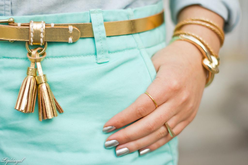 chambray shirt, turquoise shorts-7.jpg