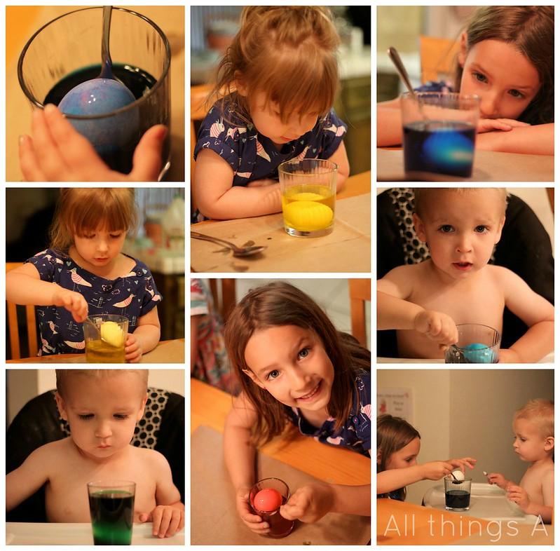 Egg Dying Collage