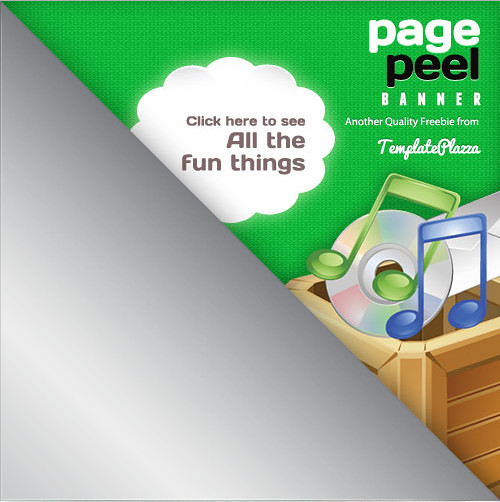 Page Peel Banner