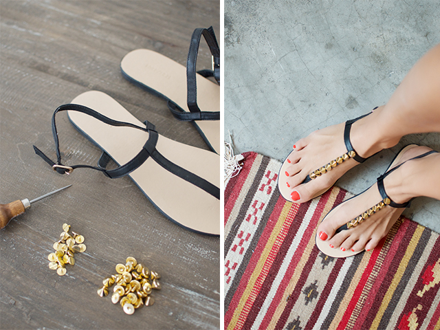 Make studded sandals www.apairandasparediy.com