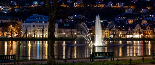 Lille Lungegårdsvannet. Bergen, Norway.