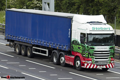 Scania R440 6x2 Tractor with 3 Axle Curtainside Trailer - PN11 UZF - Jules - Eddie Stobart - M1 J10 Luton - Steven Gray - IMG_4676