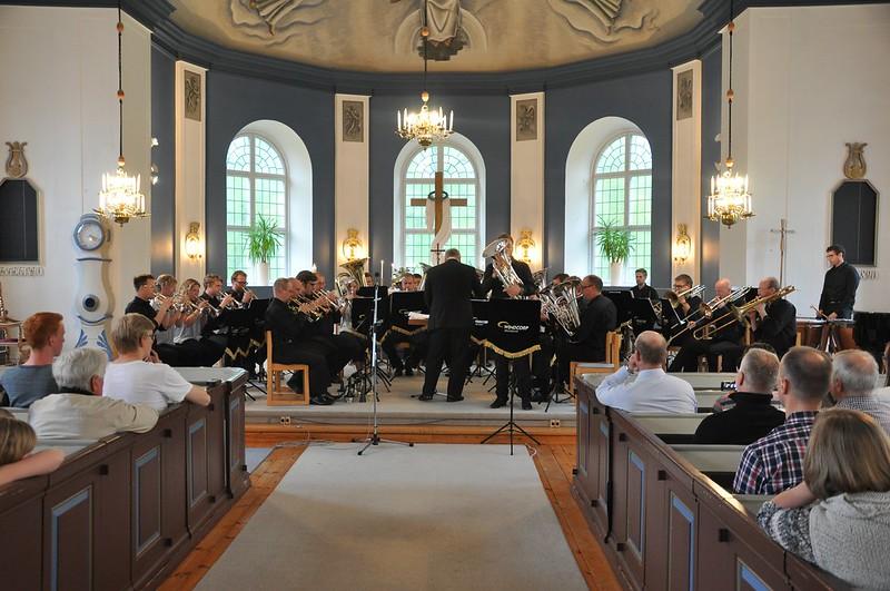 Windcorp Brass Band i Åsenhöga kyrka