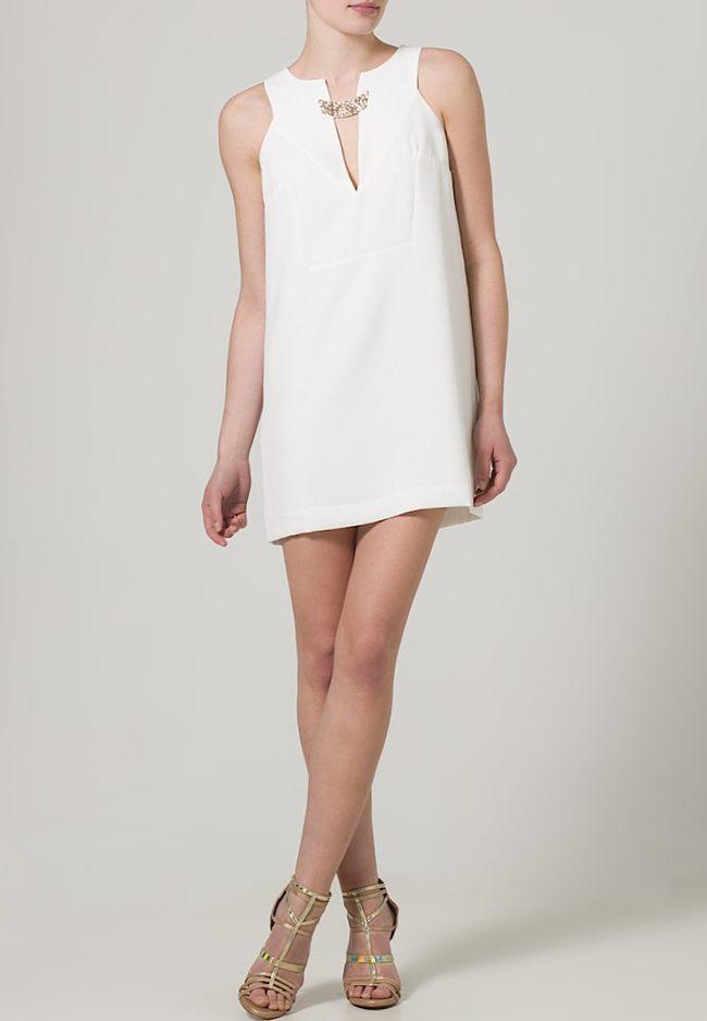 vestido blanco zalando