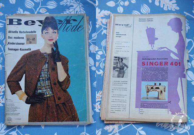 vintage, retro, sewing, szycie, krawiectwo, lata, 60s, Beyer Mode 9/1960