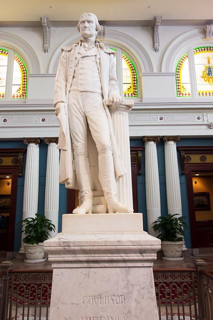 Thomas Jefferson statute in the Jefferson Hotel