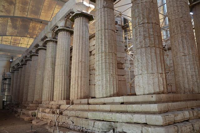 The Temple of Apollo Epikourios at Bassae, east colonnade, Arcadia, Greece