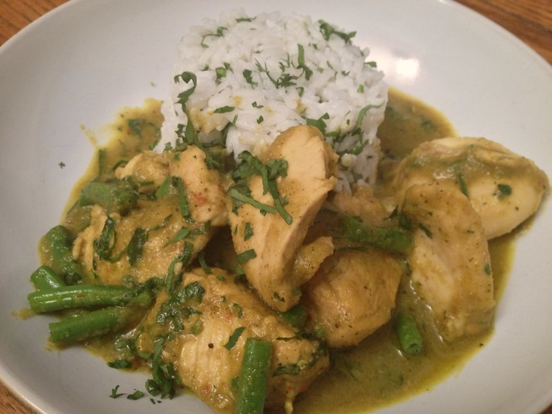 Thai Green Curry : Chicken Thai Green Curry Close Up