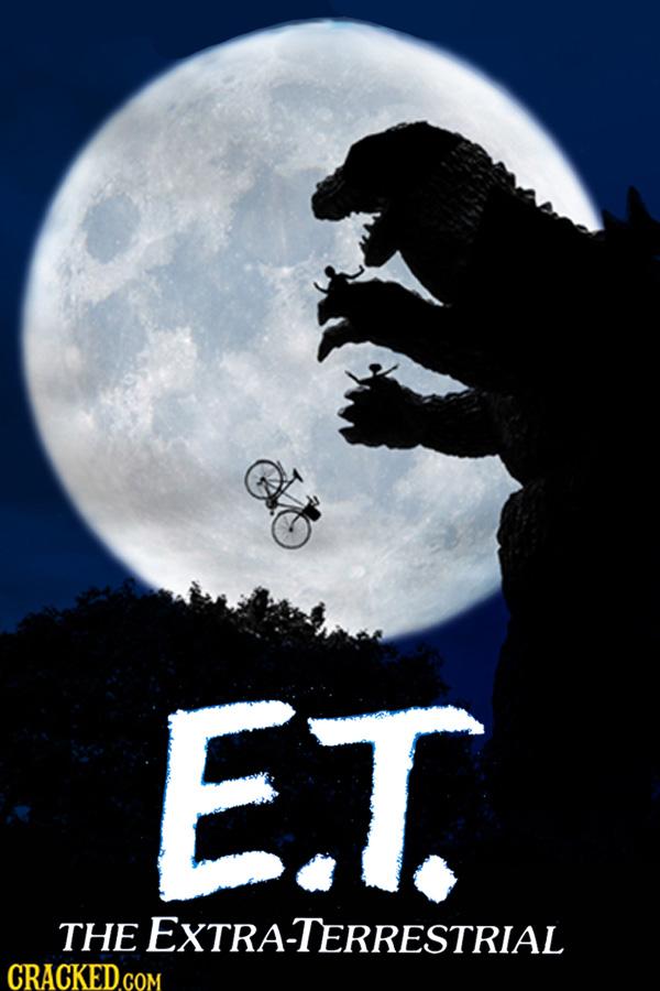 Godzilla em E.T. - O Extraterrestre