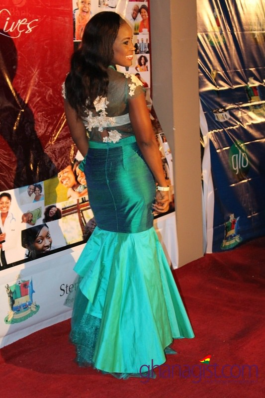Berla Addardey at Africa Movie Academy Awards 2014