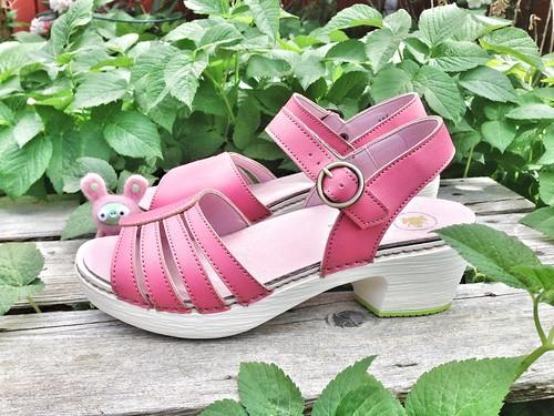 pink vegan sandals