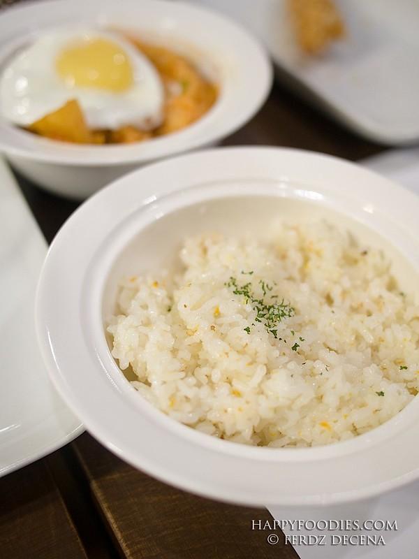 The Garlic Buttered Rice (Php 50) and Kimchi Fried Rice (Php 99)