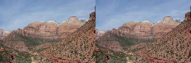 Zion National Park, 3D, Hyperstero, Crosseyed