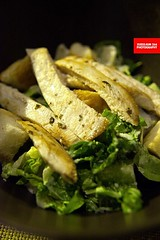 Caesar Salad with Grilled Chicken Breast