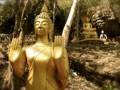 Buda protector en el Phu Si