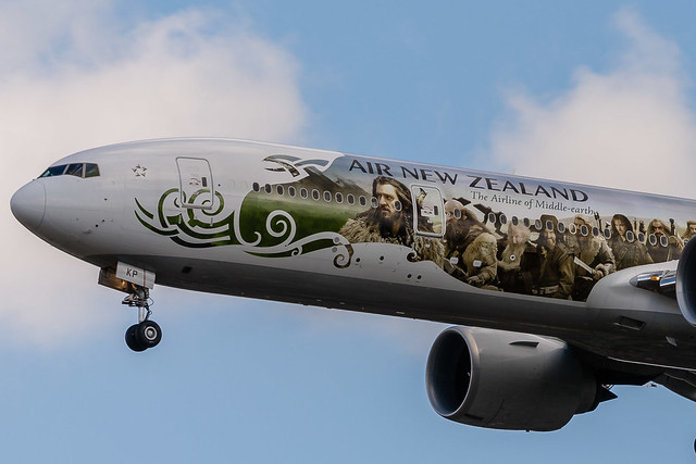 "Air New Zealand B777-319ER ZK-OKP ""The Hobbit"""