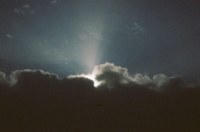 Sky above the knoll, Owls Head.
