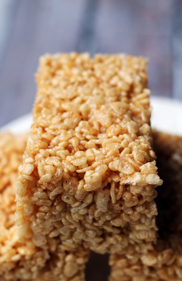 Salted Caramel Brown Butter Rice Krispie Treats | Joanne Eats Well ...