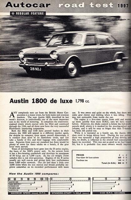 Austin 1800 Deluxe Road Test 1964 (1)