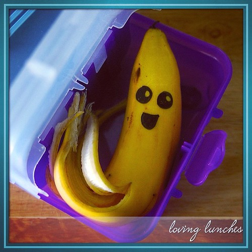 Loving this cute octo-nana from Miss Ms lunch the other day… details on the blog, link in profile. @familyplanningnsw #aussiebananas #wrapyourbanana  @nudefoodmovers #nudefood