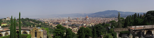 view from San Miniato Florence