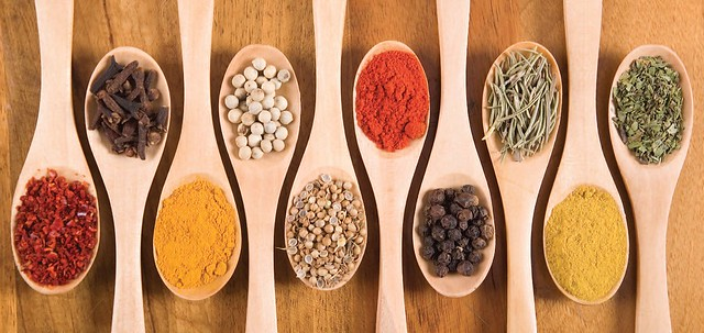 A variety of dried ingredients