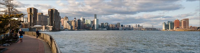 NYC Manhattan - East River Sunset Panorama
