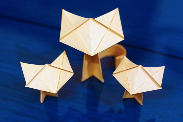"Origami ""Fluffy"" Cat"