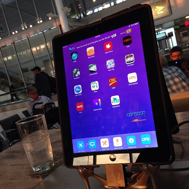 First time I've been to an airport with iPads at the gate.