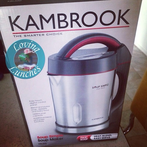 Loving the universe… I was just thinking this morning the best thing for the cold Miss M so kindly shared with me would be a good garlicky soup! Thank you @kambrookau for my new toy. Stay tuned for your chance to #win one for yourself