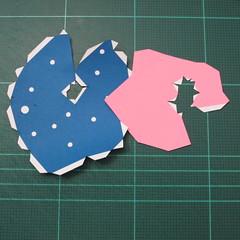 วิธีทำโมเดลกระดาษตุ้กตา คุกกี้รสราชินีสเก็ตลีลา จากเกมส์คุกกี้รัน (LINE Cookie Run Skating Queen Cookie Papercraft Model) 020