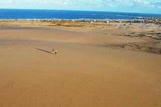 Una zona de dunas a la que sólo se puede acceder a pie o en todoterrenos especiales.